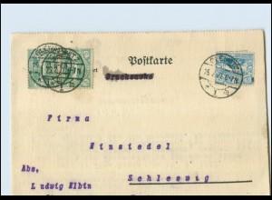 Y4446/ Brief Stempel: Gleiwitz 1921 Schlesien