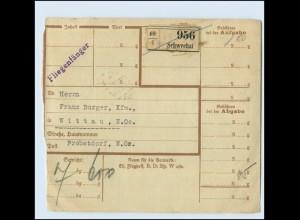 Y4445/ Paketkarte Aufgabeschein Schwechat 1935