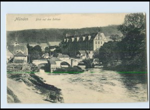 T1964-3510/ Münden Blick auf das Schloss 1906 AK