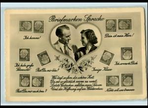T1937/ Briefmarkensprache Foto AK Heuss-Marken ca.1960