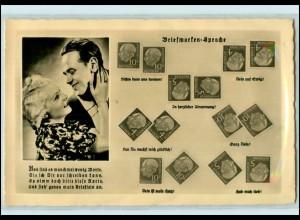 T1938/ Briefmarkensprache Foto AK Heuss-Marken ca.1960