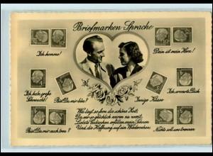 T1935/ Briefmarkensprache Foto AK Heuss-Marken ca.1960