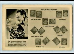 T1932/ Briefmarkensprache Foto AK Heuss-Marken
