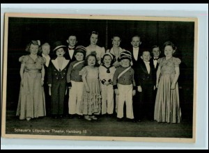 T2350/ Scheuer`s Liliputaner Theater Hamburg AK ca.1938