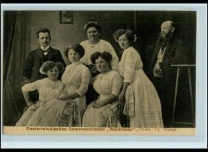 Y4573/ Damen-Orchester Österreich Waldrosen 1913 Musik AK
