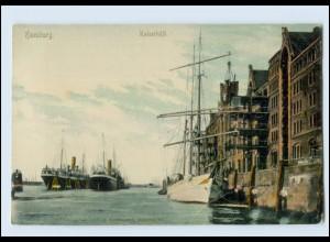 Y4484/ Hamburg Hafen Kaiserhöft Schiffe AKca.1905