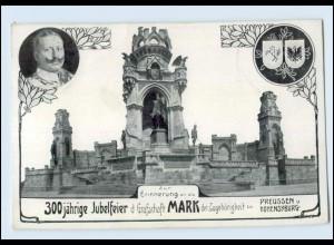 Y4479/ 300jähr. Jubelfeier Grafschaft Mark, Hohensyburg Kaiser Wilhelm 1909 AK