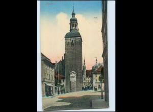 T2026-026./ Bautzen Lauenturm mit dem König Albert-Denkmal 1915 AK