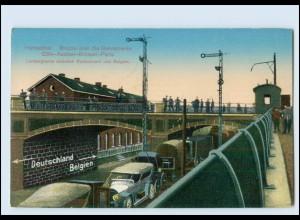 T2668/ Bahnhof Herbesthal Grenze Deutschland - Belgien Eisenbahnstrecke AK