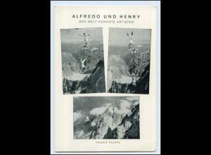 T2652/ Alfredo und Henry Traber Truppe Hochseilartisten AK 1953
