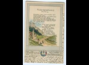Y5290/ Tiroler-Landsturm Rosengarten - Wohlfahrts-Karte dt. Veteranen AK WK1