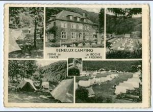 T3171/ Benelux-Camping Femer de Harze + La Roche en Ardenne AK Belgien ca.1940