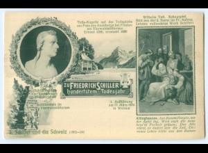 T3428/ Friedrich Schiller 100. Todestag - 5. Schiller und die Schweiz AK 1905