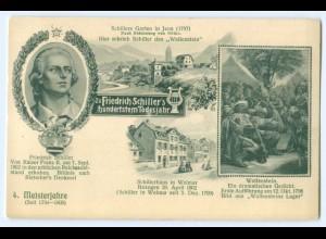 T3429/ Friedrich Schiller 100. Todestag - 4. Meisterjahre AK 1905