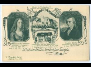 T3431/ Friedrich Schiller 100. Todestag - 3. Eigener Herd AK 1905