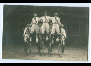 T3222/ Fahrrad Kunstradfahrer schöne Foto AK ca.1920