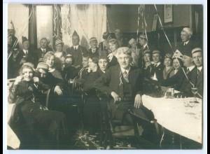 T3422/ Karneval Fasching Studenten Foto ca.1930