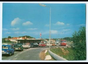 T3445/ Grenze Krusaa Dänemark AK cas.1970