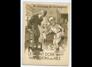 Y4708/ Le Mont-Dore guerit les Affections du Nez Reklame AK Frankreich ca.1935