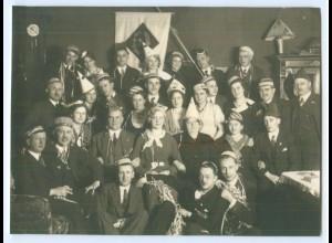 T3423/ Karneval Fasching Studenten Foto ca.1930
