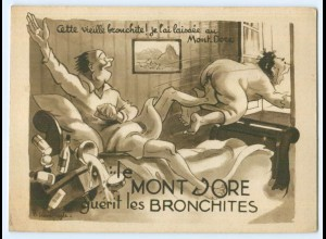 Y4706/ Le Mont-Dore guerit les Bronchiotes Reklame AK Frankreich ca.1935