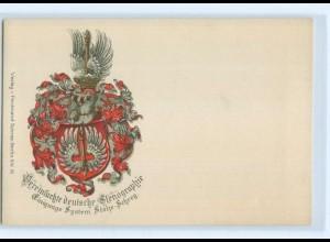 T3687/ Stenographie Stolze-Schrey Wappen Litho AK ca.1905