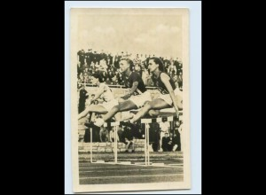 T3948/ Tschudina UdSSR 80 m Hürden-Lauf Leichtathletik Foto AK ca.1955
