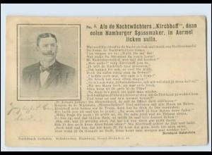"""Y4890/ Hamburg Original - Als de Nachtwächters """"Kirchhoff"""" . denn.... AK 1902"""