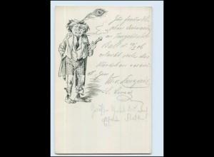 Y4952/ Bettler Landstreicher H. Rasche AK ca.1900
