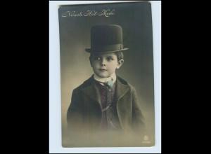 T3885/ Neuest Hut-Mode Junge mit Hut 1912