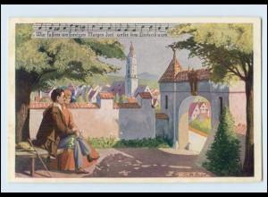 Y4929/ Lieder AK Daheim - Unterm Lindenbaum - Verlag: Kistner , ca.1920