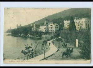 T3111/ Kroatien Abbazia Hotel Bellevue und Südstrand AK