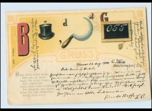 Y5022/ Bilder-Rätsel AK Litho 1900
