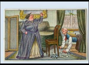 Y5419/ Wütende Ehefrau Humor AK 1917