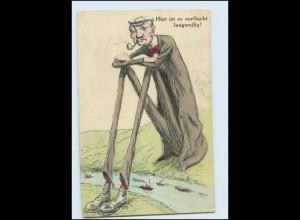 Y5418/ Großer Mann Humor AK 1913