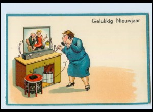 T4006/ Bild-Telefon Litho AK ca.1930 Verlag: HWB Neujahr