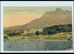 T3977/ Camps Bay, C.P. Children Bathing Pool Südafrika AK ca.1912