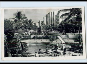 T3973/ Guaruja Est. de S. Paulo AK Brasilien 1963