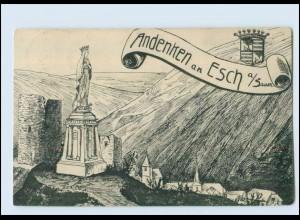T4058/ Andenken an Esch Luxemburg AK ca.1912