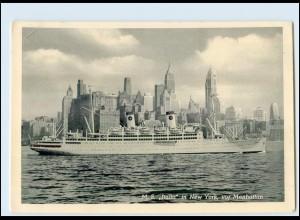 Y5138/ Dampfer Italia in New York AK ca.1955