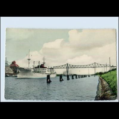 Y5129/ Rendsburg Hochbrücke Frachter Handelsschiff AK ca.1960