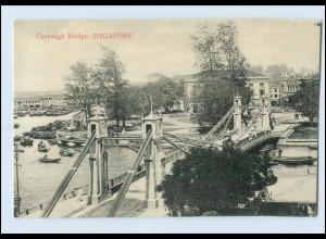 T4184/ Singapore Cavenagh Bridge AK ca.1910