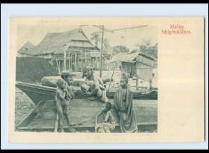 T4185/ Singapore Malay Shipbuilders Ak ca.1910