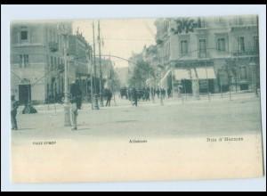 T4142/ Athen Rue d`Hermes Griechenland Greece AK ca.1900