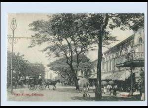 T4163/ Colombo York Street Ceylon AK ca.1910