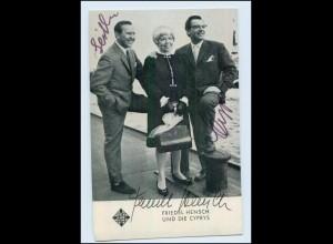 T4191/ Friedel Hensch und die Cyprys Autogramm Telefunken-Karte