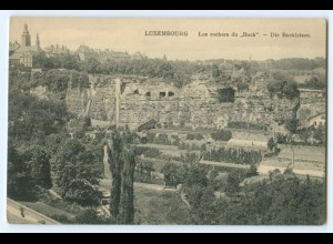 T4420/ Luxemburg Die Bockfelsen AK ca.1912