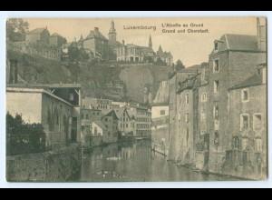 T4429/ Luxemburg Grund und Oberstadt AK ca.1912