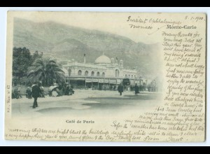 T4771/ Monaco Monte-Carlo Café de Paris 1900 AK