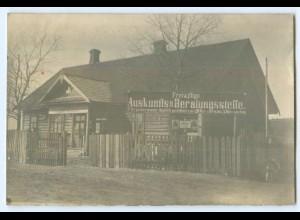 T4552/ Krivoshin Beratungsstelle Rußland 1918 Foto AK 1. Weltkrieg